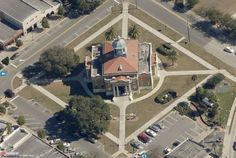 Aerial View of Citrus County Courthouse Square 2013