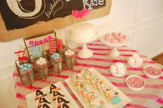 Adorable and girly sweets table - #kidsparty