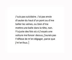 "Image in ""Textes. on We Heart It Sad Quotes, Life Quotes, Passion Quotes, Dont Be Normal, Manga Quotes, French Quotes, Bad Mood, Sad Love, Thing 1"
