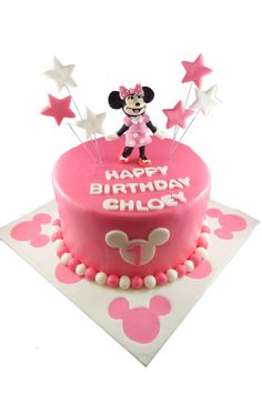 3 tier Minnie Mouse Theme cake Whimsical cakes i hart Pinterest