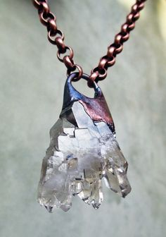 Angel Wing Crystal Pendant Tribal Talisman by SilviasCreations, $129.00
