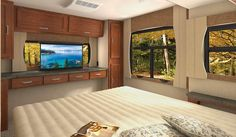 The Lance 2465 Travel Trailer has a large bedroom with plenty of open windows that let in all kinds of natural lighting. Open Window, Large Bedroom, Large Windows, Travel Trailers, Canning, Gallery, Lighting, Natural, Ideas