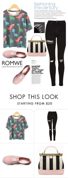 """Romwe contest"" by nejra-l ❤ liked on Polyvore featuring Topshop and Vans"