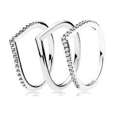 Wishbone Ring Stack | PANDORA Jewelry US #pandorajewelry