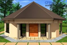 Round House Plans, Free House Plans, Building Costs, Building Design, Bungalow House Plans, House Floor Plans, Decorating Small Spaces, Home Collections, Farm House