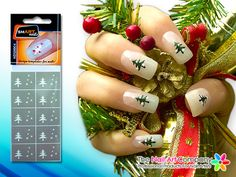 Smart nails kitty cat nail art stencil set n058 nail art smart nails christmas tree nail art stencil set nds0004 prinsesfo Images