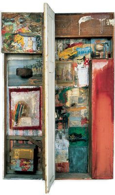 Robert Rauschenberg  painting/mixed media work from 1960's not sure of title and date yet