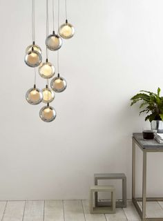 Smoke and Champagne Banjo 10 Light Ceiling Cluster - BHS