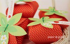 Strawberry Paper favor party box printables RED color | Etsy Party Box, Party Favors, Tea Party, Color Rosa, Pink Color, Strawberry Box, Strawberry Shortcake, Strawberry Wedding, Tie Box