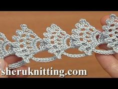 How to Make Wide Crochet Lace Tutorial 28 - YouTube