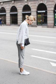 tifmys – Zara sweater, H&M shirt, Mango pants, Céline trio bag & Converse Chucks.