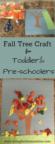Fall Tree Craft for Toddlers and Preschoolers #artsandcraftsforpre-schoolers, #EverydayArtsandCrafts