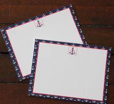 Anchor Monogram Stationery on Etsy, $15.00
