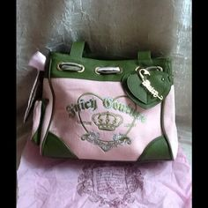 Juicy Couture Handbag NWT  Pale pink with green Juicy Couture Bags