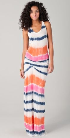 Beautiful colors in this tie-dye dress