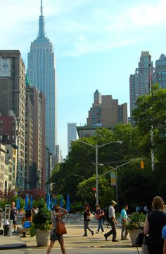 Madison Square Park, Broadway, 5th Avenue, Midtown, Empire State Building, NYC, New York City, Manhattan