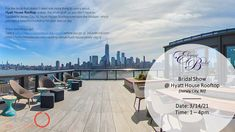 Bridal Show, Jersey City, Virtual Tour, Rooftop, Special Day, Wedding Events, Backdrops, Bride, How To Plan