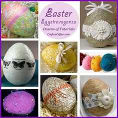 It's the annual Easter Eggstravaganza on Crafts 'n Coffee!
