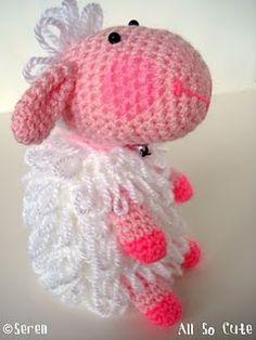 Crocheted amigurumi lamb
