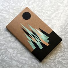 """Discover one-of-a-kind notebooks like this one """"There"""" on the Moleskine Artist Marketplace. Notebook Cover Design, Notebook Covers, Journal Covers, Diy Cahier, Cute Notebooks, Journals, Sketchbook Cover, Cute School Supplies, Handmade Books"""