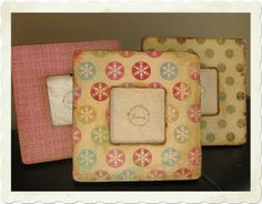 Crafty Chic Mommy: Cheap and Chic Scrapbook Paper Frames...try saying that three times fast!