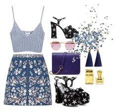 """""""Shine Bright"""" by iuliastyles on Polyvore featuring Needle & Thread, Mulberry, Sheriff&Cherry, Yves Saint Laurent, Chicnova Fashion, Moschino and Topshop"""