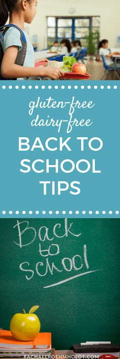 Back to school season is here! Here are 4 tips to help you stay on track with your gluten and dairy-free diet through this busy time of year. Dairy Free Dips, Lactose Free Recipes, Gluten Free Diet, Back To School Hacks, School Tips, Sample Recipe, Recipe Ideas, Dairy Free Breakfasts, Food Intolerance