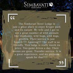 Thank you Karlo V for this lovely review on @tripadvisor. . . . #Wildlife #Getaway #Simbavati #Safari #Lodge #River #AfricanSafari #Africa #SafariPark #SafariWorld #LuxurySafari #Review #Tripadvisor River Lodge, Wild Dogs, African Safari, Lodges, Great Places, Trip Advisor, Wildlife, Nature, Instagram