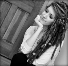 i like the dreads with the regular bangs. cute