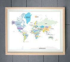 Diy earth toned world push pin travel map kit pinterest travel hey i found this really awesome etsy listing at httpsetsylisting126988827world map art print pantone colors gumiabroncs Choice Image