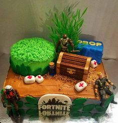 Decoración de tortas de Fortnite 10 Birthday Cake, Lego Birthday Party, 11th Birthday, Birthday Parties, Birthday Ideas, Cakes For Boys, Cake Kids, Diy Cake, Celebration Cakes