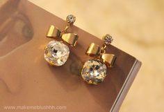 Make Me Blushhh: DIY Crystal Bow Earrings