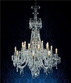 Maria teresa gold six light antique reproduction chandelier w hand georgian hand cut crystal 88 light reproduction chandelier polished silver aloadofball Image collections