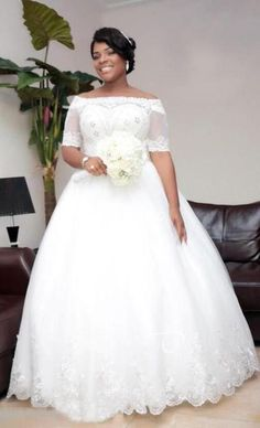 Country Style Wedding Dresses, Wedding Dresses Plus Size, Modest Wedding Dresses, Prom Dresses, Half Sleeve Wedding Dress, Applique Wedding Dress, Lace Ball Gowns, Princess Ball Gowns, Bridal Gowns