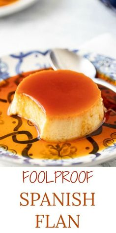 This FOOLPROOF Easy Spanish Flan Recipe is one you'll make over and over again! … This FOOLPROOF Easy Spanish Flan Recipe is one you'll make over and over again! A fabulous 5 ingredient make ahead dessert that everyone will love! Make Ahead Desserts, Desserts For A Crowd, Easy Desserts, Delicious Desserts, Yummy Food, Dessert Healthy, Simple Dessert, Filipino Desserts, Quick Dessert Recipes