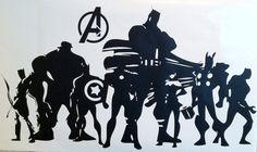 Wall Decal-The Avengers Silhouette.