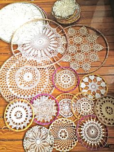 crocheted dreamcatchers