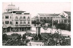 Hanoi 100 years ago in photos Colonial, Vietnam History, Paris Skyline, Opera, Louvre, Explore, Country, Travel, Painting