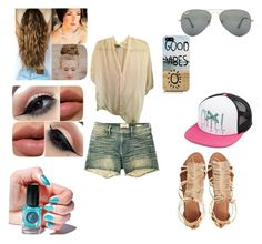A day on the board walk by igg12 on Polyvore featuring polyvore, fashion, style, Vince, Frame Denim, Visconti & du Réau, Volcom, Ray-Ban and Cirque Colors