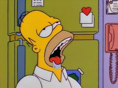 Homer Simpson The Simpsons GIF - HomerSimpson TheSimpsons Drooling - Discover & Share GIFs Homer Simpson Brain, The Simpsons, Simpsons Party, Homer Drooling, Los Simsons, 20th Century Fox, Food Themes, Futurama, Living At Home