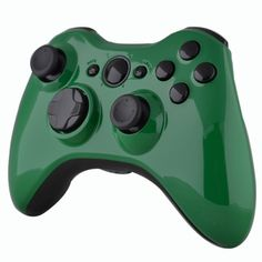 Green Glossy Shell With Black Glossy Trim & Buttons