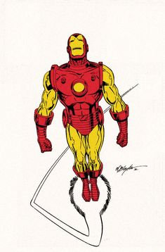 Classic Iron Man comic book artwork by Bob Layton Marvel Comics Superheroes, Marvel E Dc, Marvel Comic Universe, Marvel Heroes, Comics Universe, Iron Man Kunst, Iron Man Art, Comic Book Characters, Marvel Characters