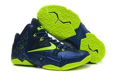 pretty nice 51c26 19008 cheap lebron 11 navy blue green shoes on www.cheaplebrons11.org Lebron  James Basketball