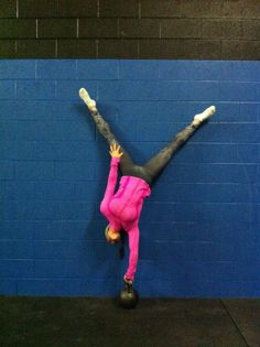 Intense. My goal is todo a hand stand just regular. Couldn't imagine doing this.