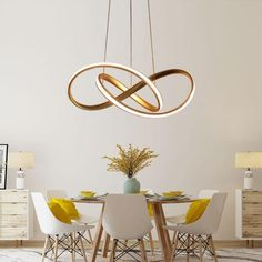 Cheap Pendant Lights, Buy Directly from China Suppliers:Gold&White Modern LED Pendant Light For Living room Bedroom Dining Room Hanging Lamp LED Pendant Lamp Indoor Lighting Luminares Enjoy ✓Free Ship Cheap Pendant Lights, Modern Pendant Light, Pendant Lamps, Ring Chandelier, Chandeliers, Pendant Lighting, Dining Room Lamps, Living Room Lighting, Kitchen Lighting