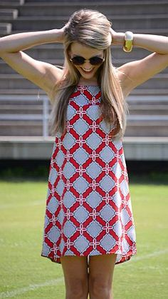Saturday Down South Dress, Red :: NEW ARRIVALS :: The Blue Door Boutique