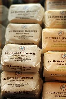 Bordier butters at L'Epicerie Breizh Cafe in Paris {specialties from Breton}