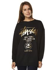 STUSSY CITIES CUSTOM MADE WOMENS CREW - BLACK on http   www.surfstitch b81a35a3d8