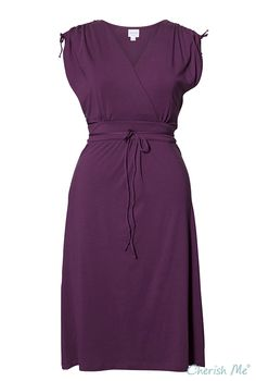 Boob Bianca Maternity & Nursing Dress - Purple