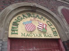 Hungarian House - Delray, Detroit.    The area of Delray (along Jefferson Avenue - south of Clark Street) was once a lively community for Polish and Hungarian immigrants. They worked in the auto and steel factories that lined the nearby Detroit River and relaxed in clubs like these [see photo].